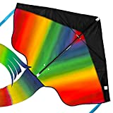 aGreatLife Rainbow Kite for Kids Easy to Fly in Low Wind Speed, Beginners Kids Kite for Family...