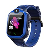 Kids Waterproof Smart Watch Phone, GPS/LBS Tracker Smart Watch for Kids for 3-12 Year Old Compatible...