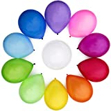 WinkyBoom Balloons Assorted Color 12 Inches 110 Count Premium Quality Latex for Birthday Party...