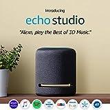 Echo Studio – High-fidelity smart speaker with Philips Hue Bulbs – Alexa smart home starter kit