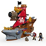 Fisher-Price Imaginext Shark Bite Pirate Ship, Playset with Pirate Figures and Accessories for...