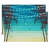 Beach Palm Tree Invitations, Nautical Invitations, Rustic Elegant invites for Wedding Rehearsal...