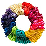 100 Pack Pearl Balloons Rainbow Set,12 Inches Multicolored Latex Balloon Assorted Bright Colors...