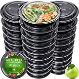 Meal Prep Containers - Reusable Plastic Containers with Lids - Disposable Food Containers Meal Prep...