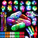 78PCs LED Light Up Toy Party Favors Glow In The Dark,Party Supplies Bulk For Adult Kids Birthday...