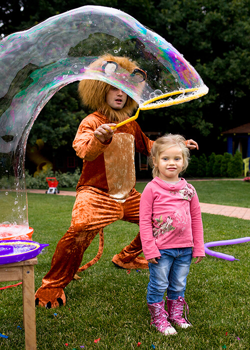Bubble Show for a Birthday Party