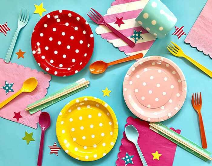 Colorful Disposable Tableware