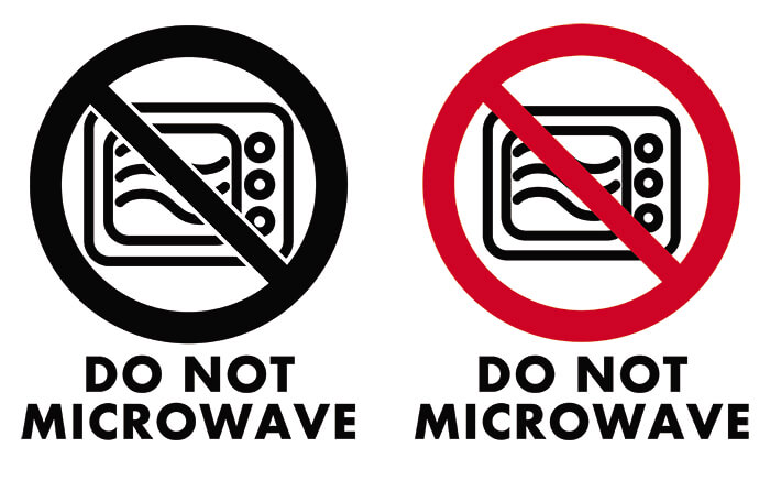 Do Not Microwave Icon