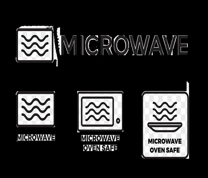Microwave Oven Safe Label