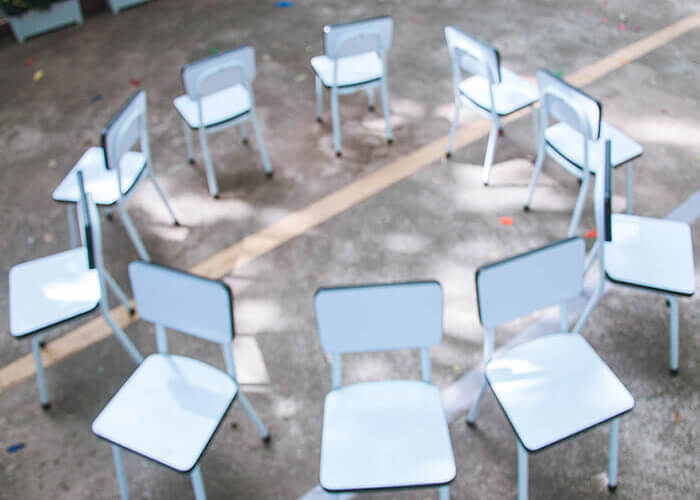 Round of Chairs for Musical Chairs Game