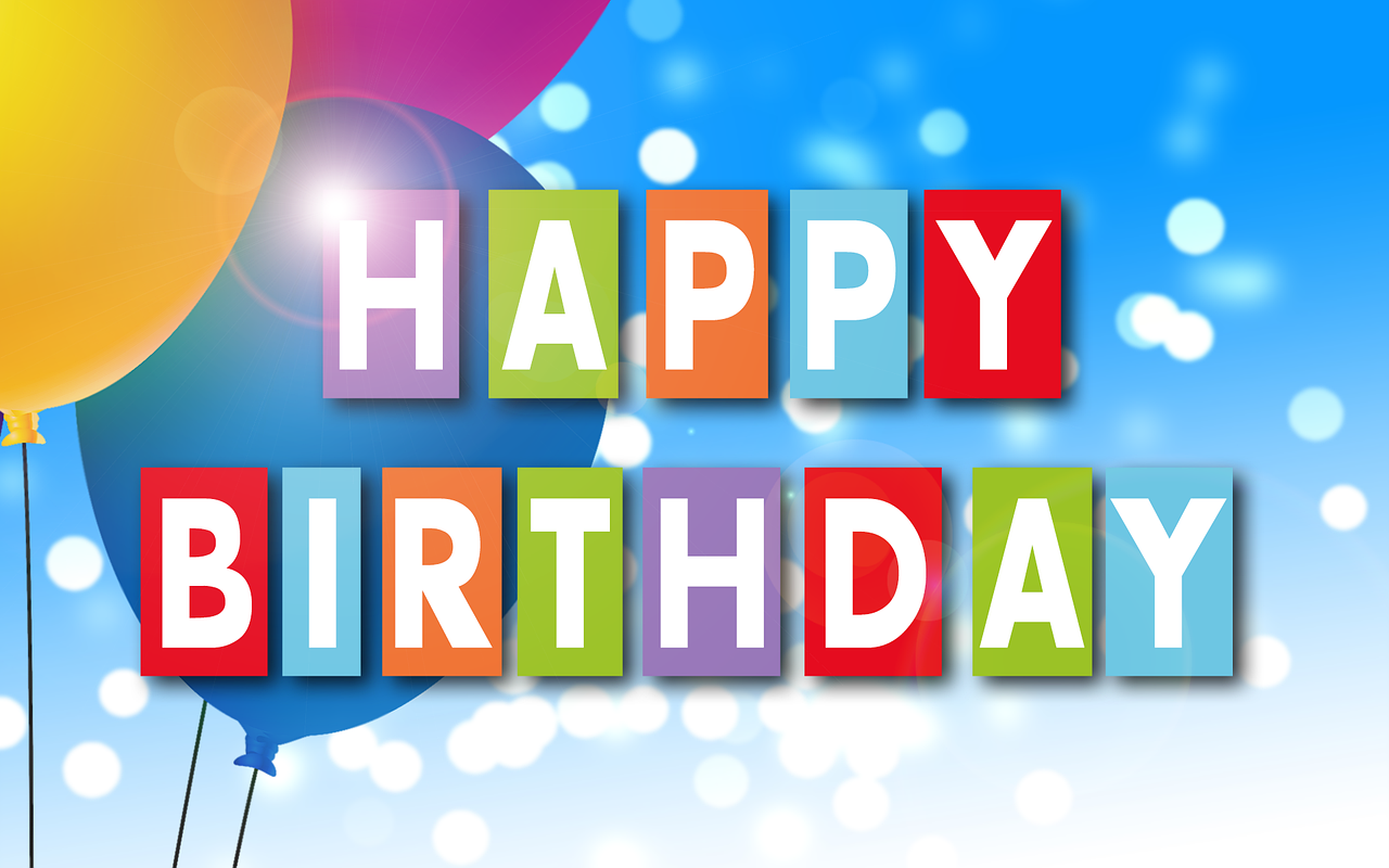 Birthday party celebration banner