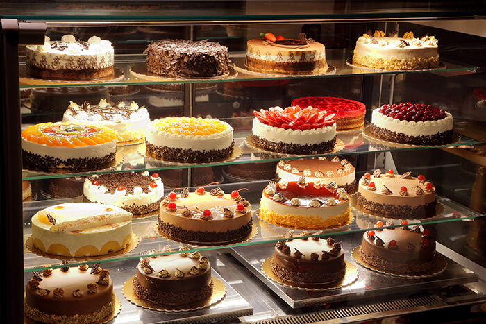 Cakes on Display