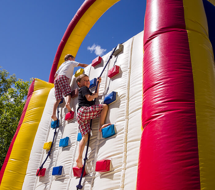 Climbing on an Inflatable Wall