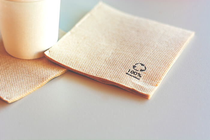 Tissue Made from Recycled Paper