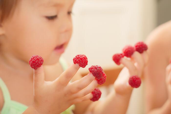 Child Eating Finger Foods