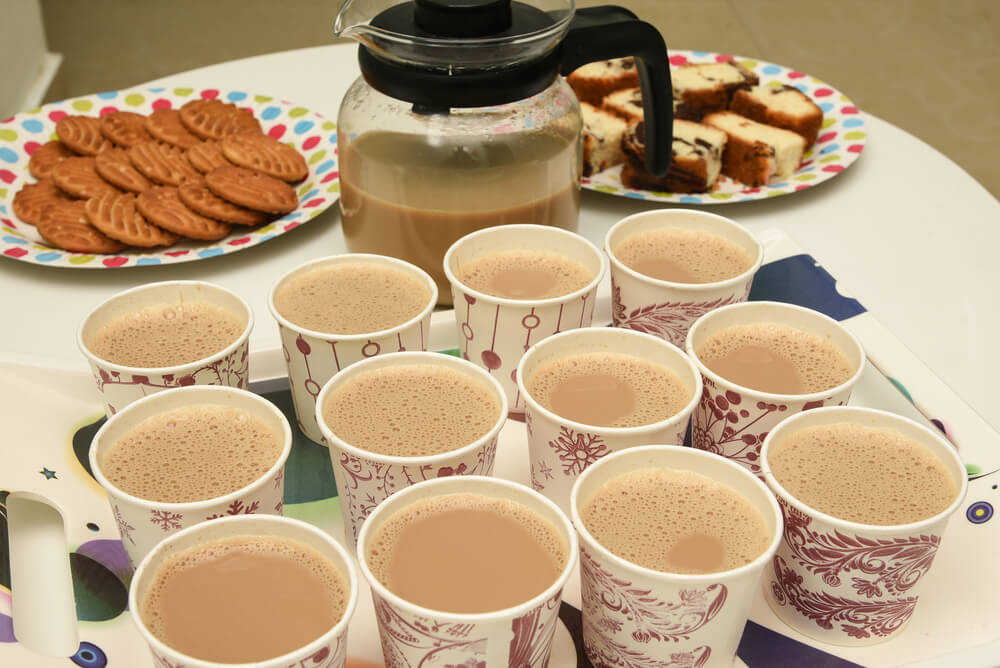 milk tea is served at a party