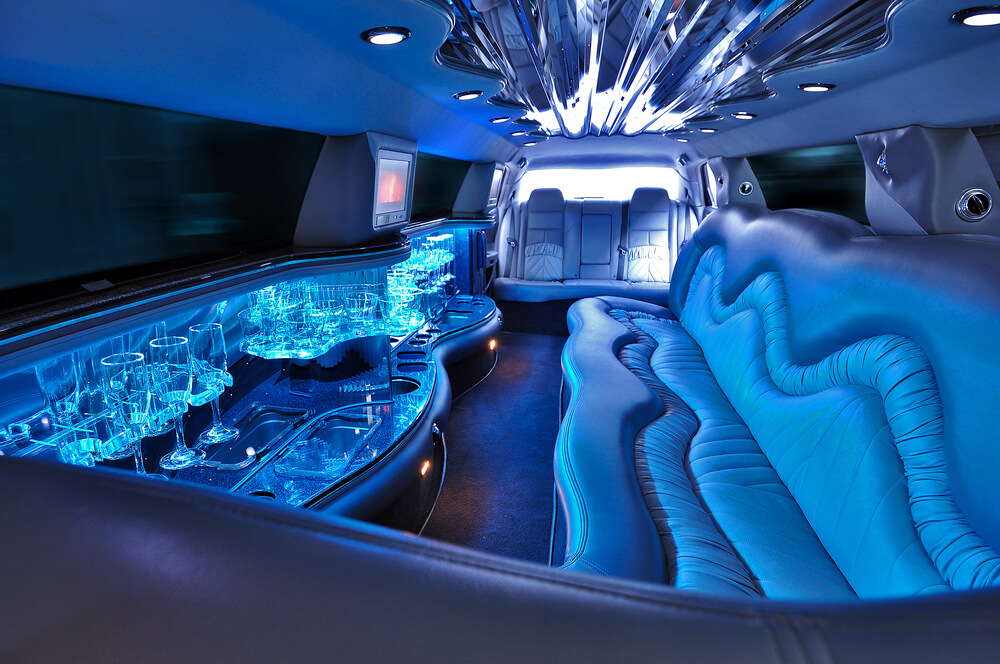 limousine interior - blue lights