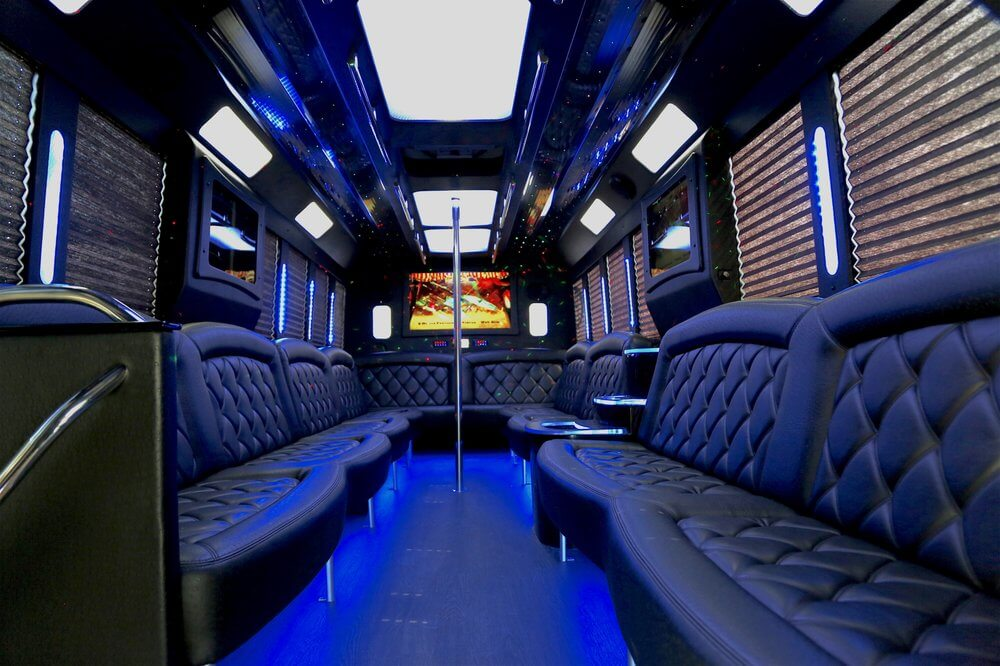 party buses or limos - party bus interior neon lights